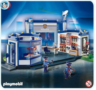 Playmobil police HQ with interrogation room