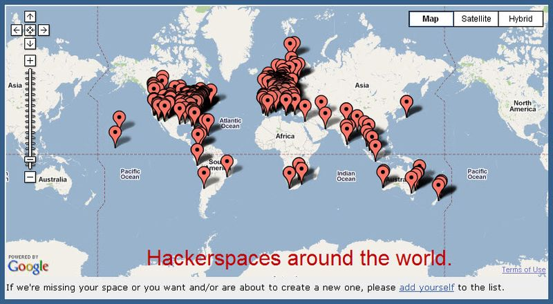 Hackerspaces-map