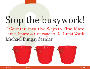 Stop-the-busywork