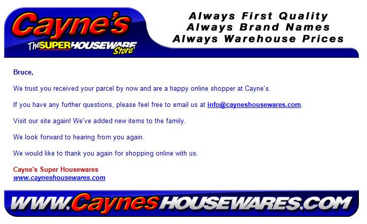 Caynes-confirmation