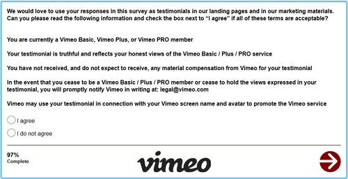 Vimeo-survey