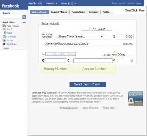 Oneclickpayfacebook
